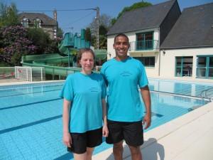 Manuella Le-Morvan et Tarik Belouazza, les maitres nageurs.