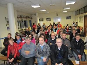 Une soixantaine de personnes a particié à l'AG du club.